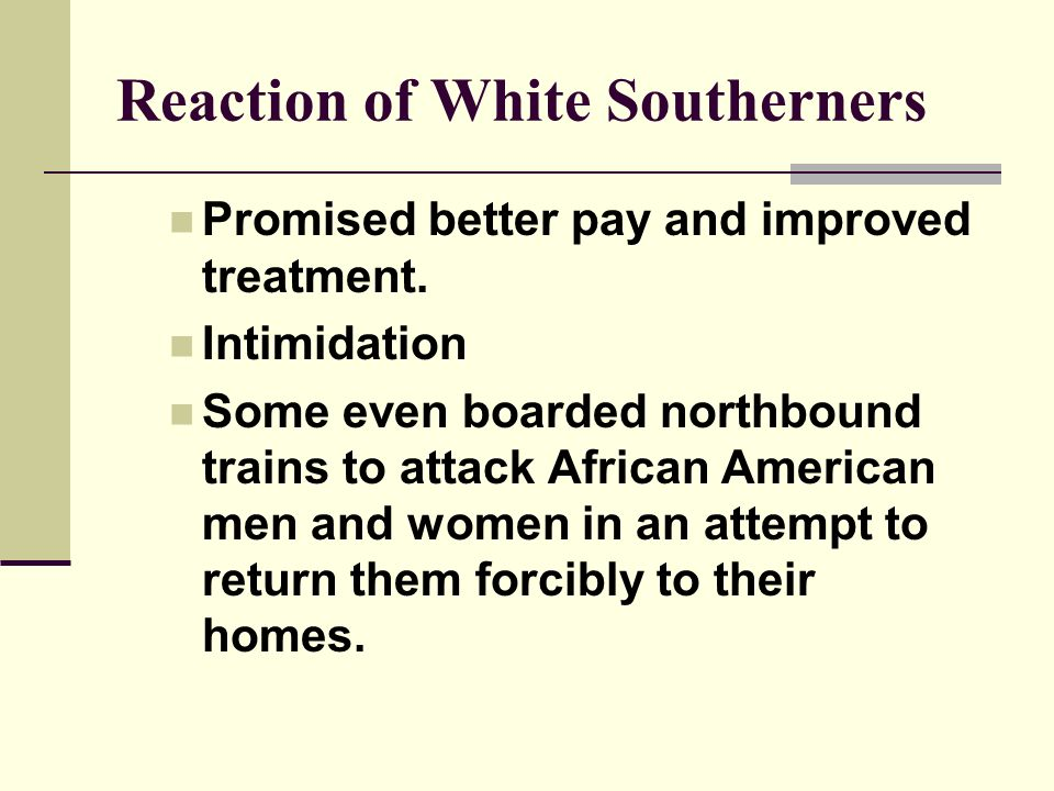 Reaction of White Southerners
