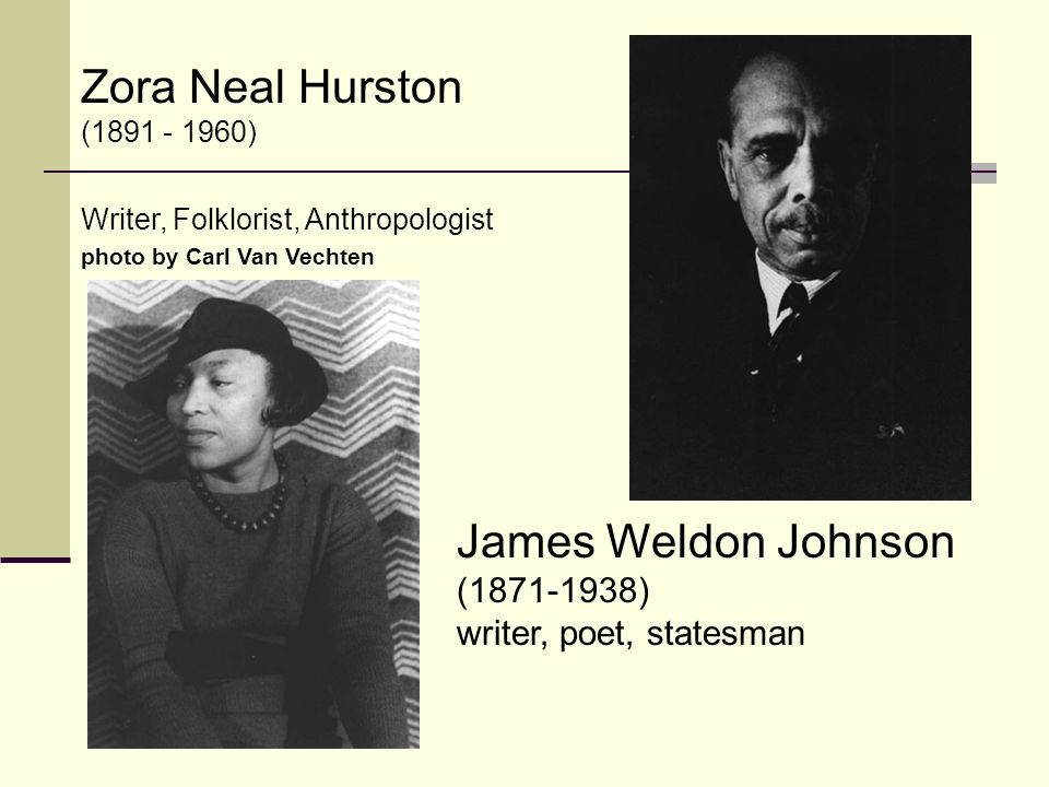 James Weldon Johnson ( ) writer, poet, statesman