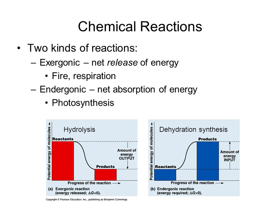 Chemical Reactions Two kinds of reactions: