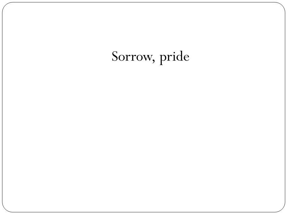 Sorrow, pride