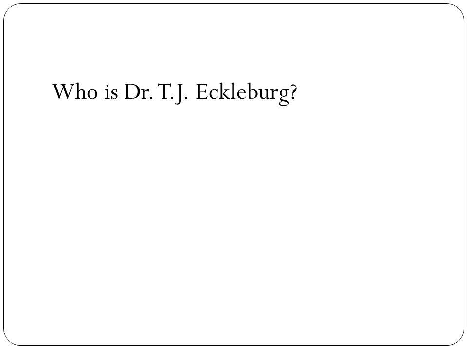 Who is Dr. T.J. Eckleburg