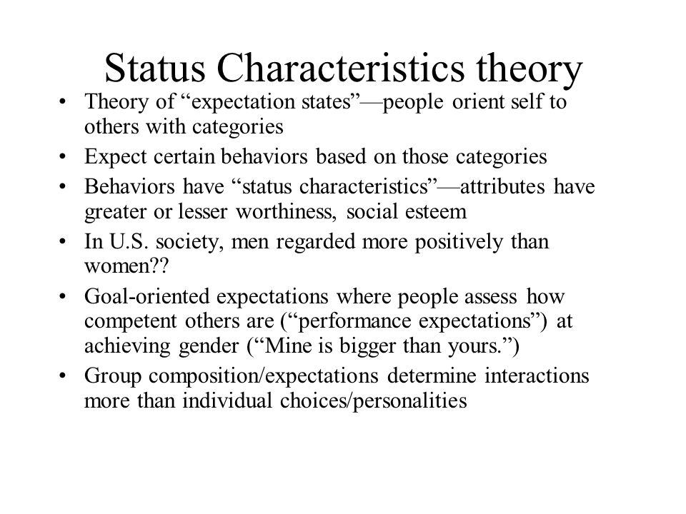 a review of status characteristics theory Guidelines for writing a review article a) good to know about review articles b) elements of a review article  • status quo review  • theory/model review.