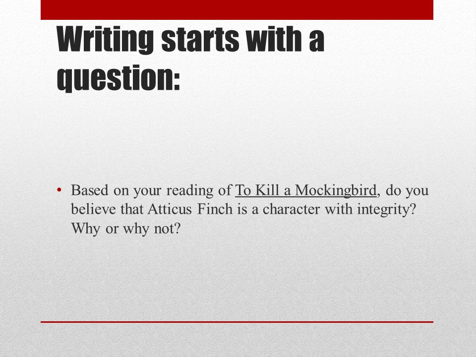 to kill a mockingbird essay on point of view View to kill a mockingbird research papers on academiaedu for free.