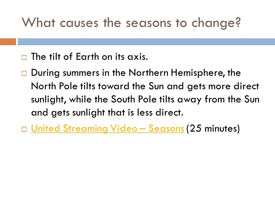 What causes the seasons to change