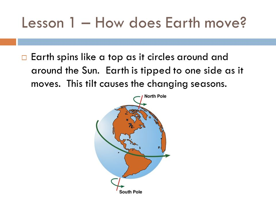 Lesson 1 – How does Earth move