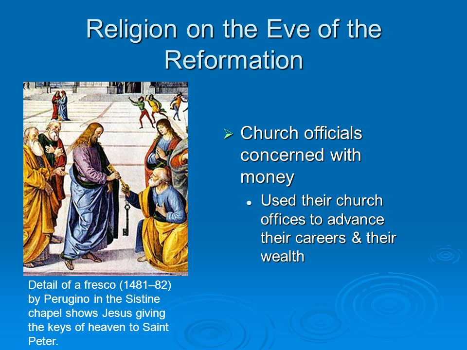 Religion on the Eve of the Reformation