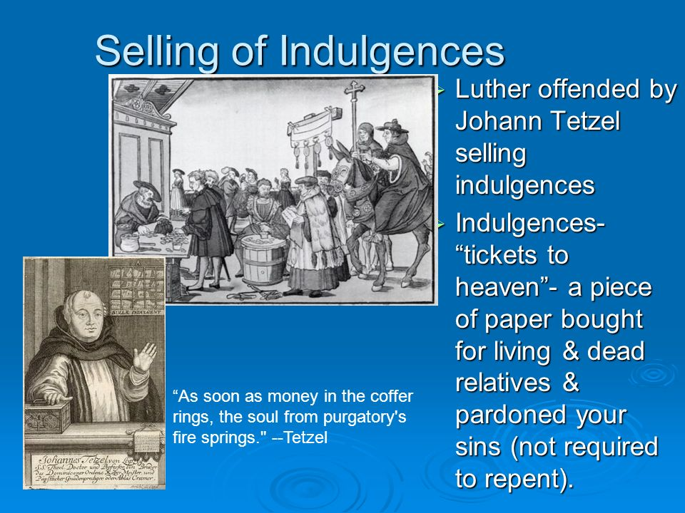 Selling of Indulgences
