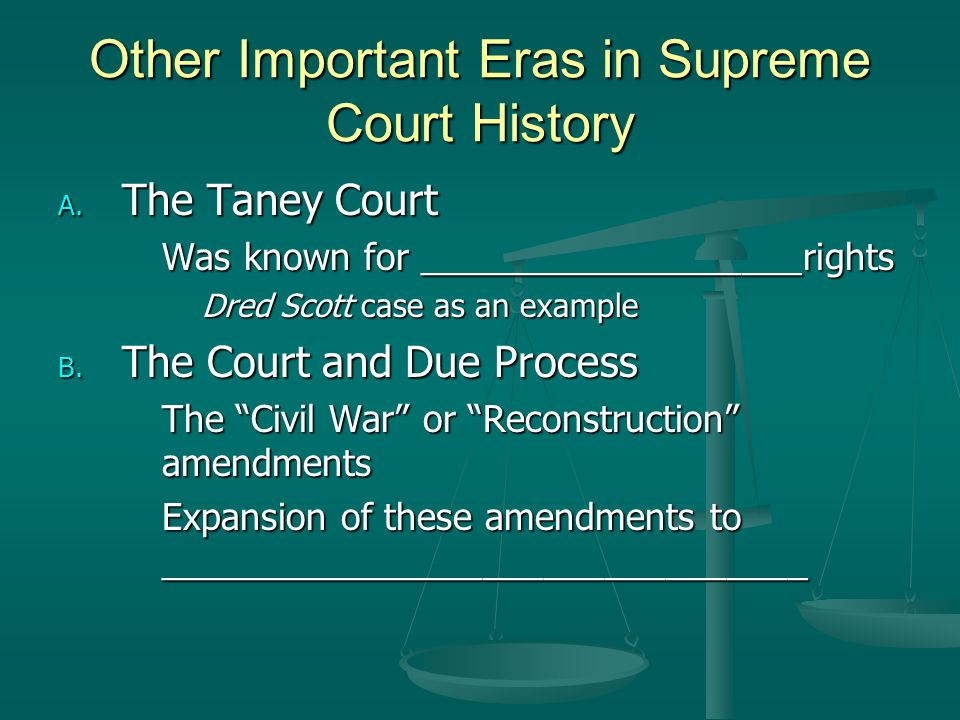 Other Important Eras in Supreme Court History