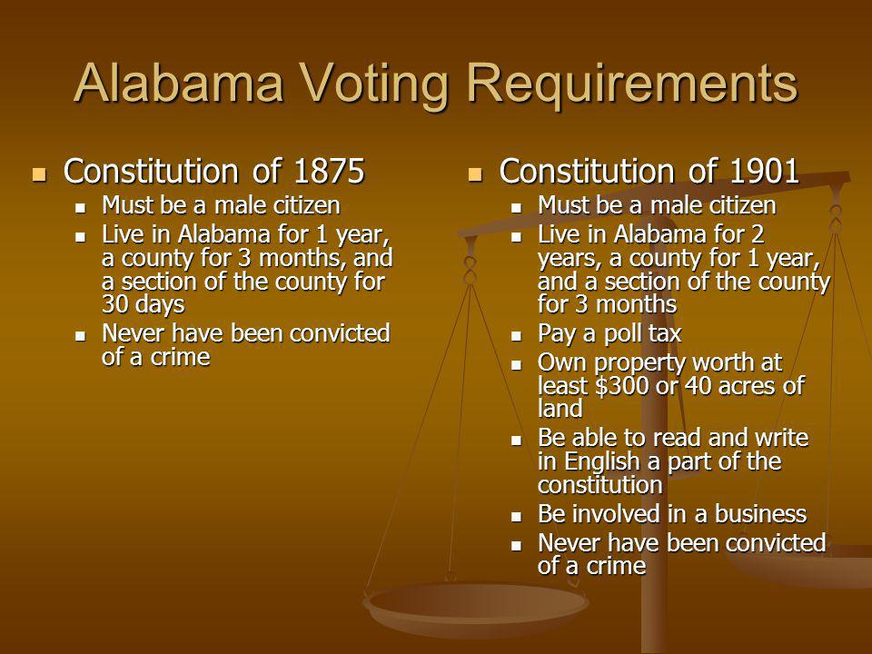 Alabama Voting Requirements