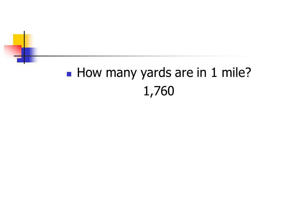 How many yards are in 1 mile