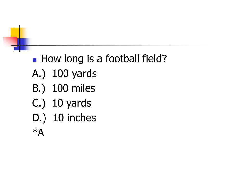 How long is a football field