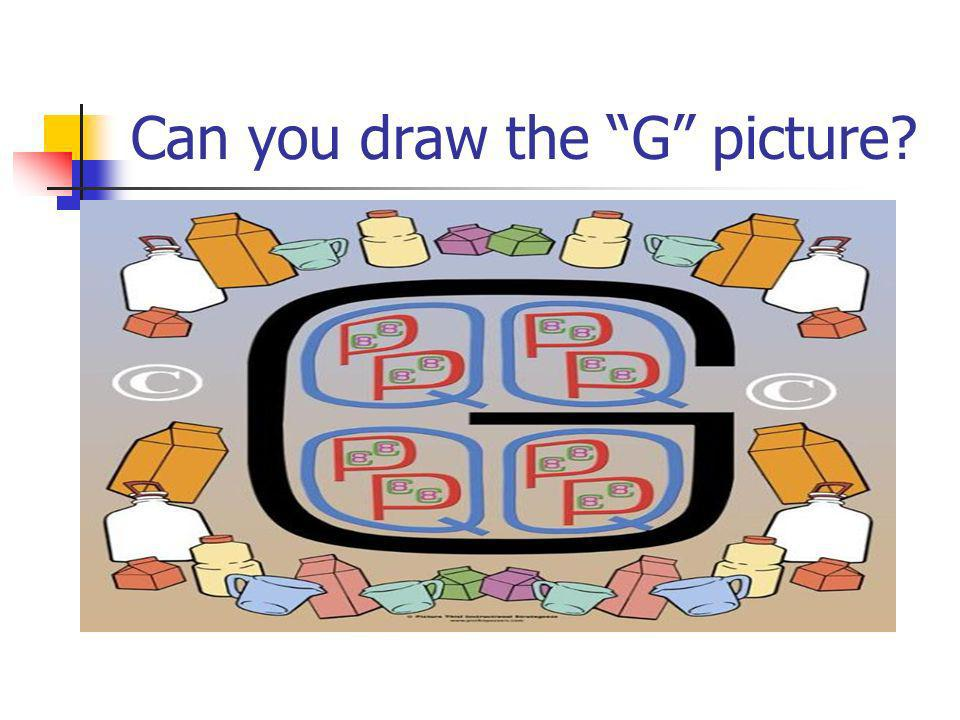 Can you draw the G picture