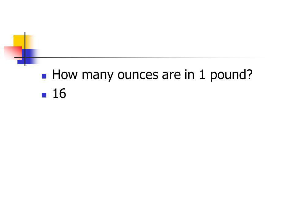 How many ounces are in 1 pound