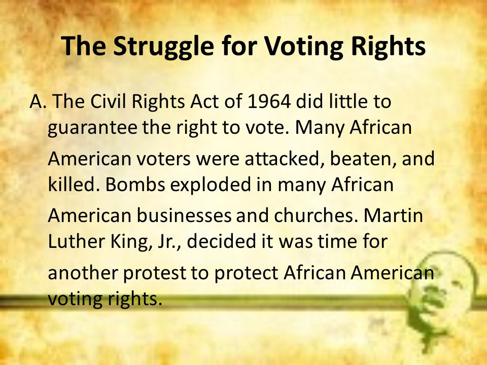 The Struggle for Voting Rights