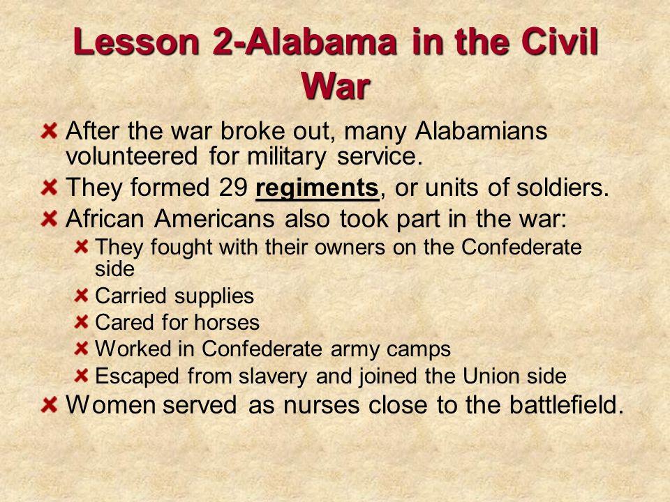 Lesson 2-Alabama in the Civil War
