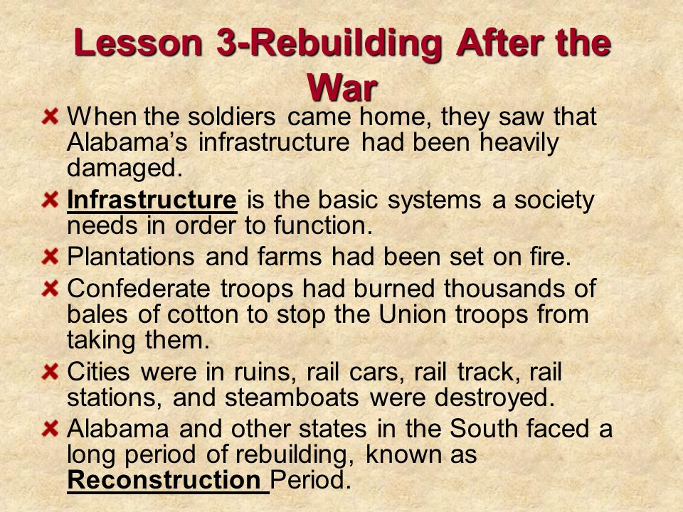 Lesson 3-Rebuilding After the War