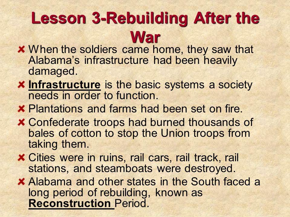 Lesson 3-Rebuilding After the War