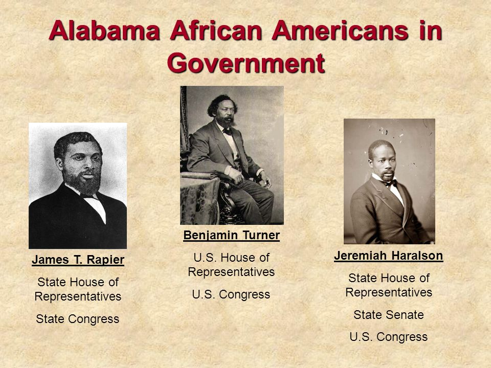 Alabama African Americans in Government