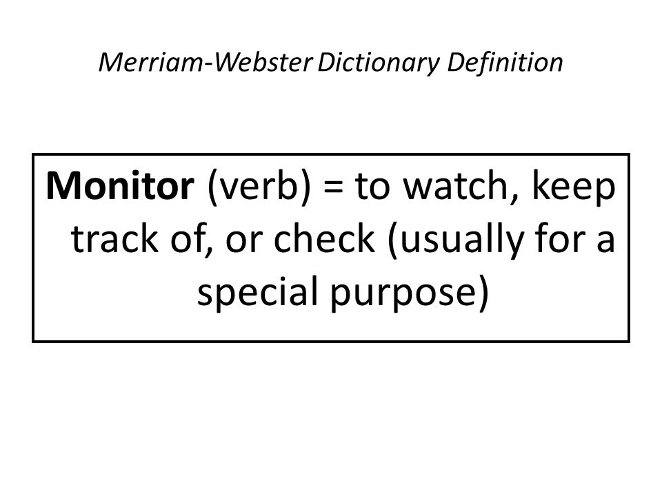 Merriam-Webster Dictionary Definition