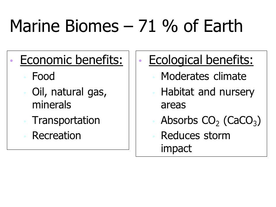 Marine Biomes – 71 % of Earth