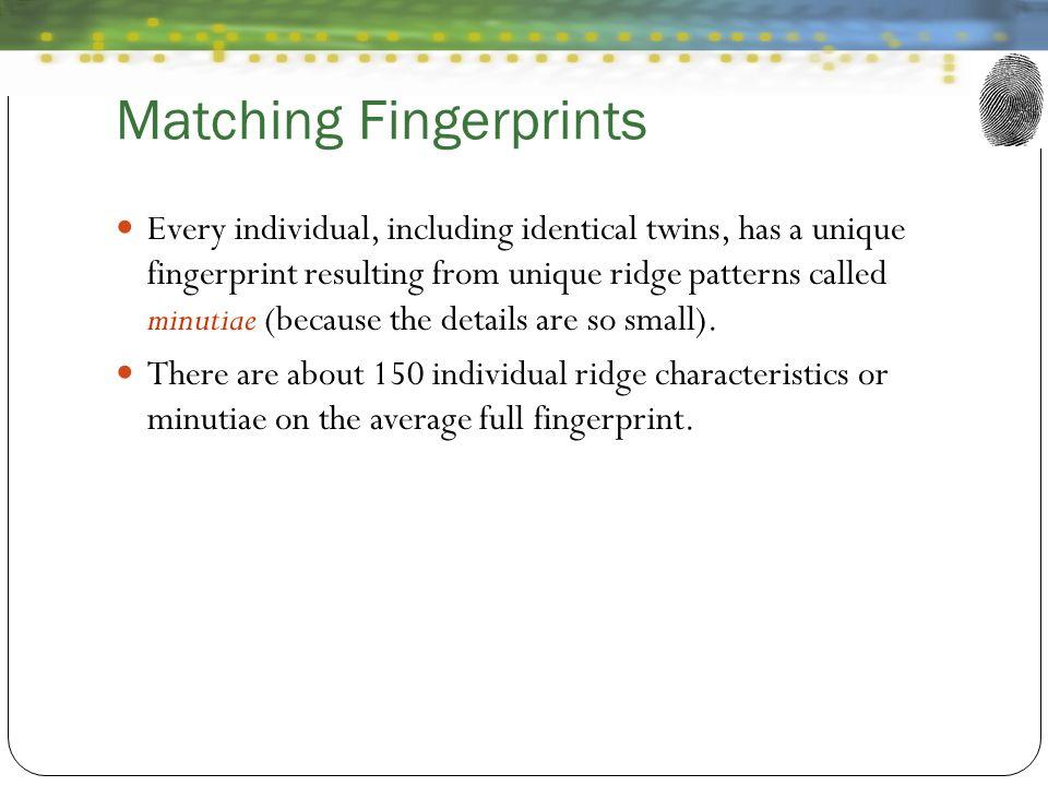 Matching Fingerprints