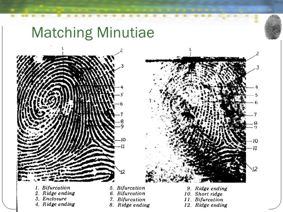 Matching Minutiae
