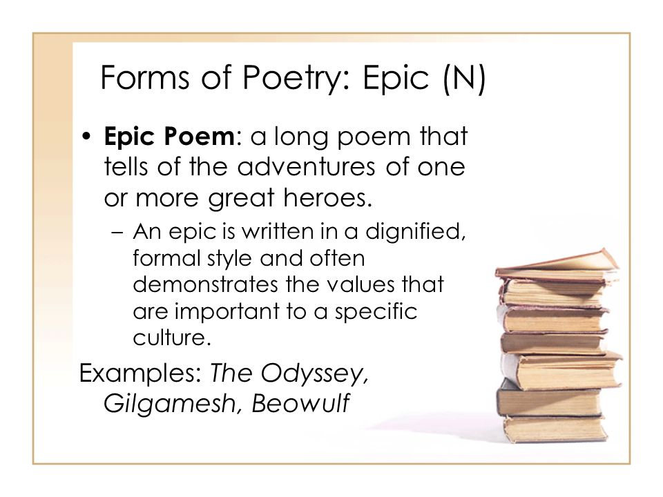 Forms of Poetry: Epic (N)