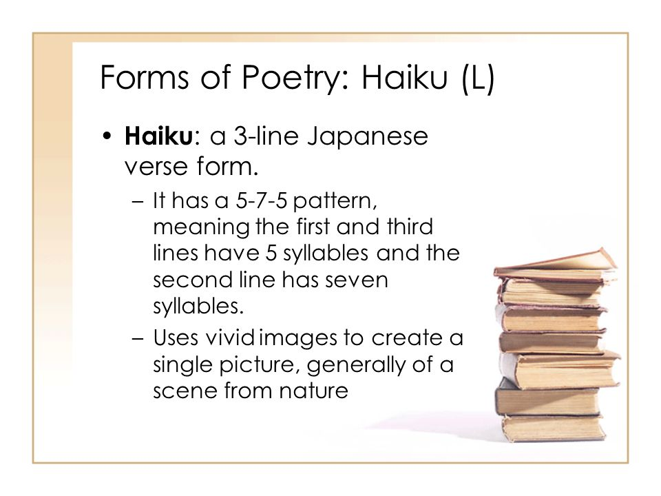 Forms Of Poetry 8th Grade GRC OMMS