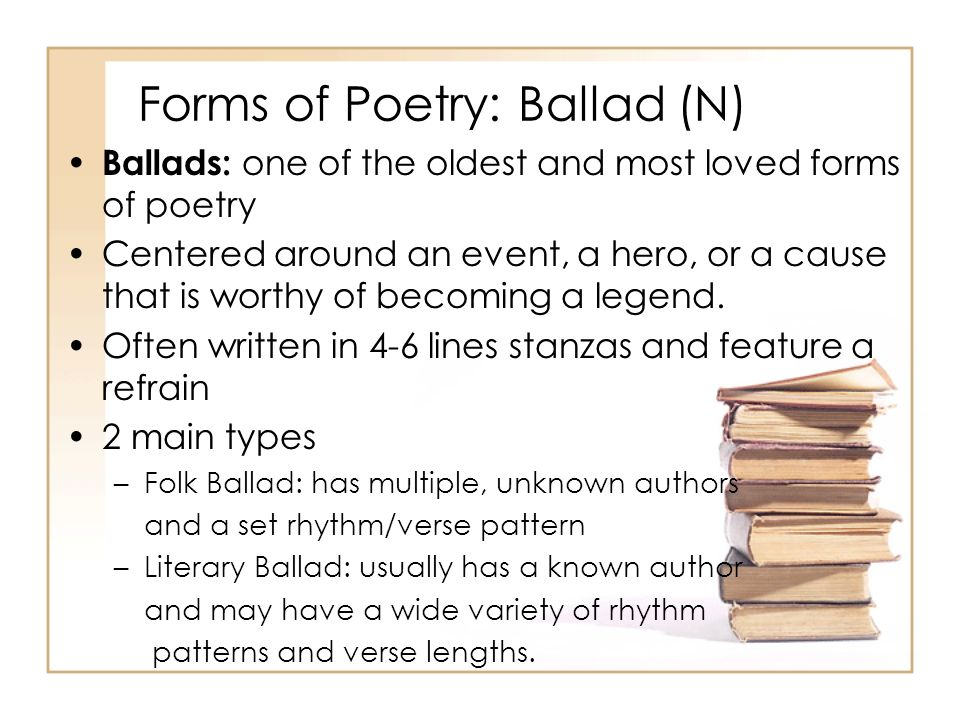 Forms of Poetry: Ballad (N)