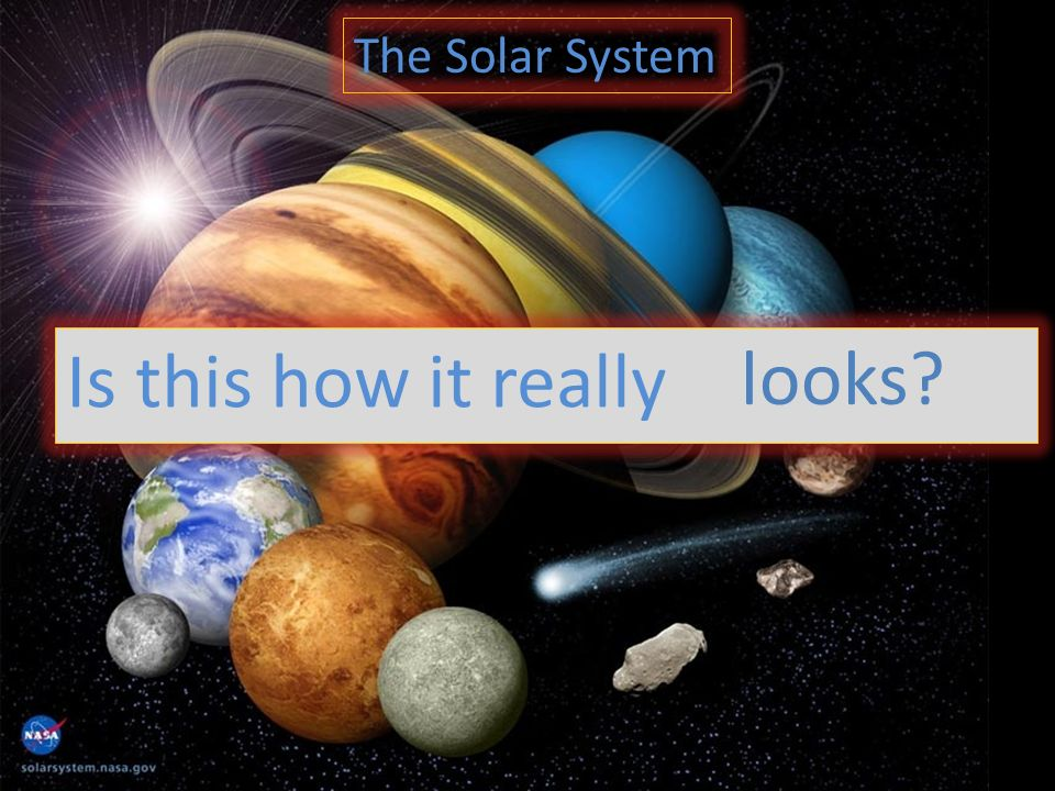 The Solar System Is this how it really looks