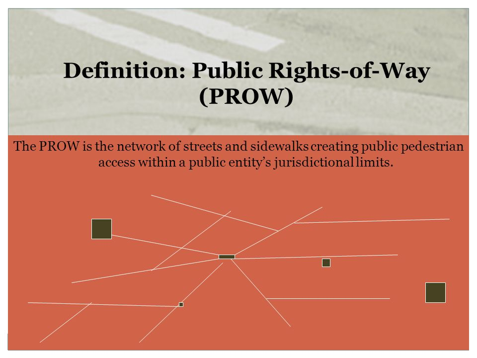 Definition: Public Rights-of-Way (PROW)