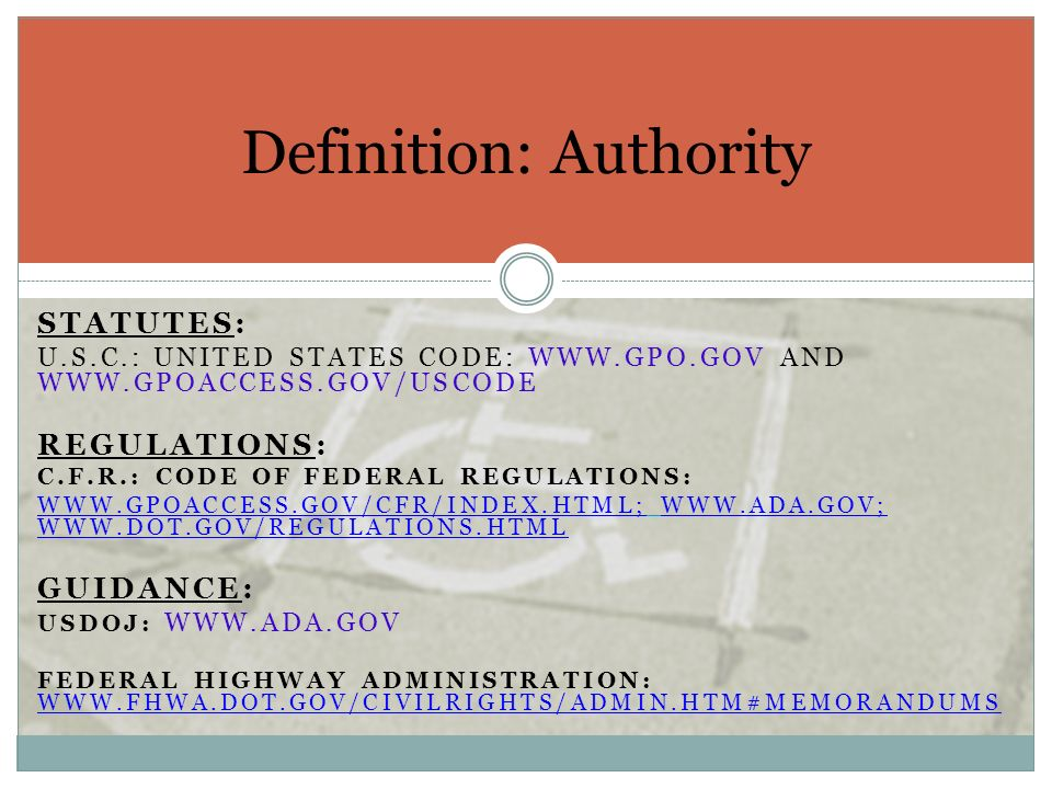 Definition: Authority