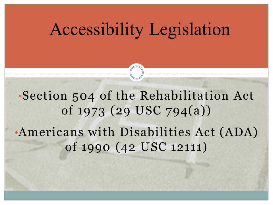 Accessibility Legislation