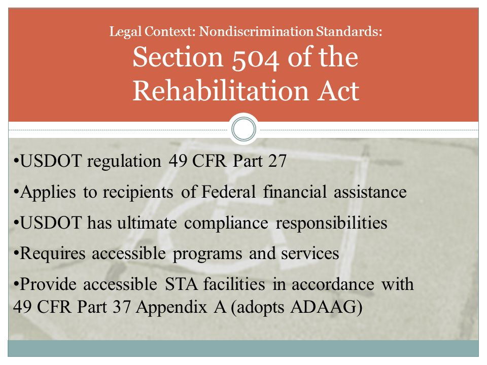 USDOT regulation 49 CFR Part 27