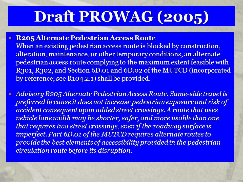 Draft PROWAG (2005)
