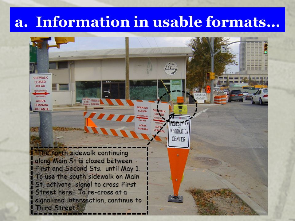 a. Information in usable formats…