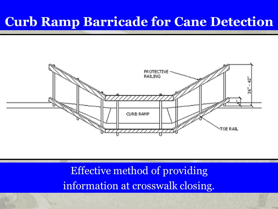 Curb Ramp Barricade for Cane Detection