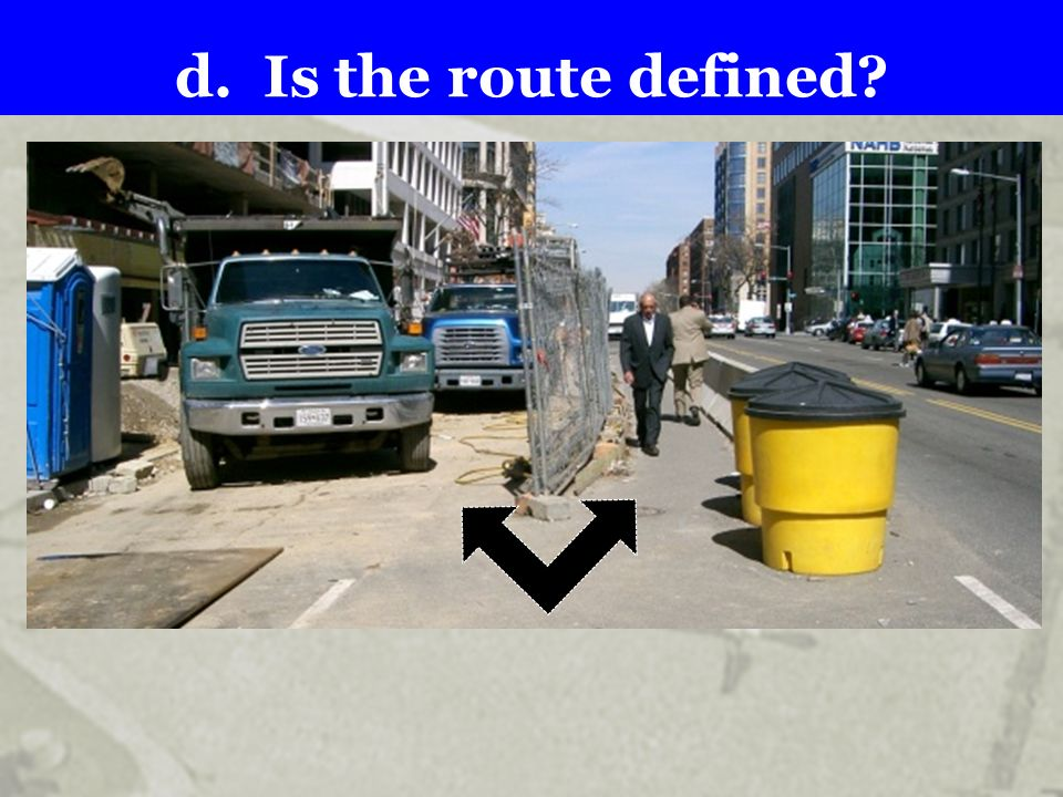 d. Is the route defined