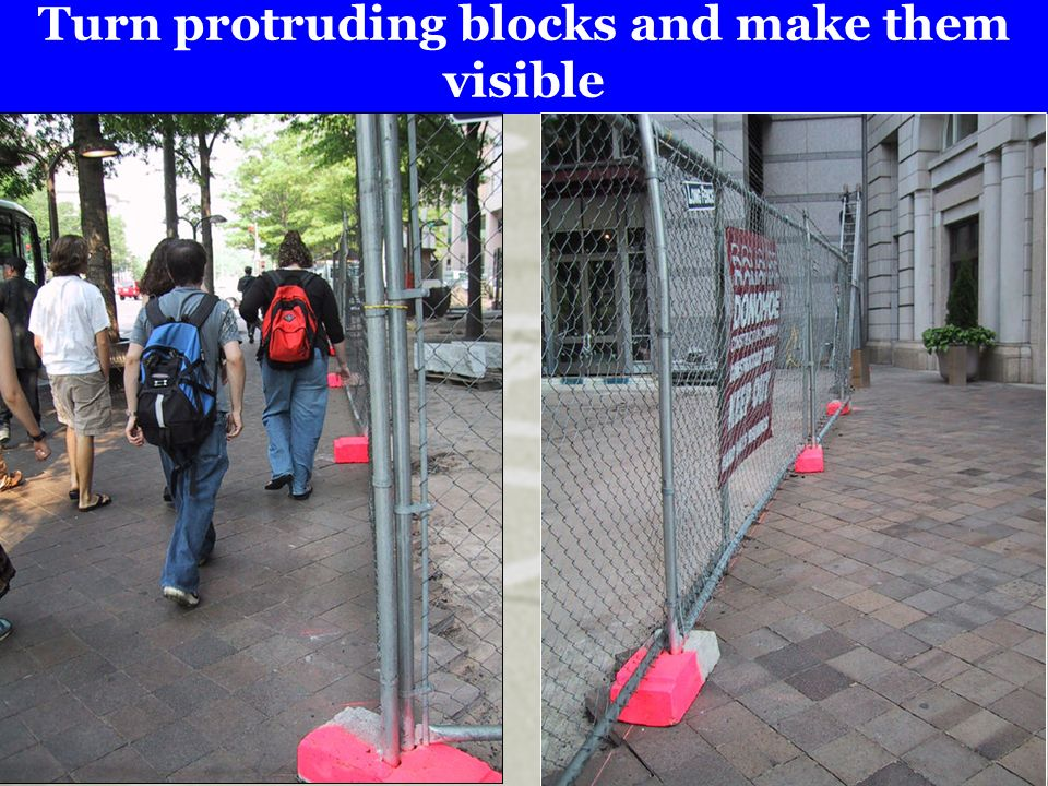 Turn protruding blocks and make them visible