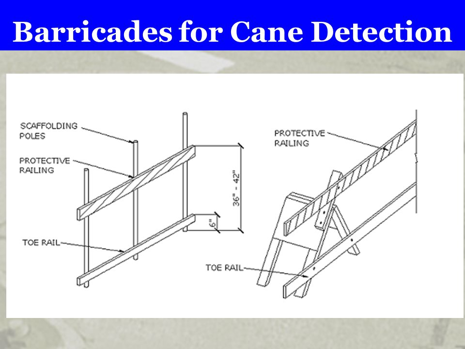 Barricades for Cane Detection