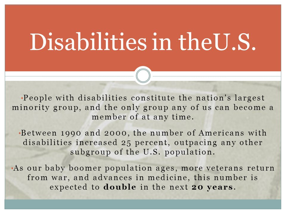 Disabilities in theU.S.