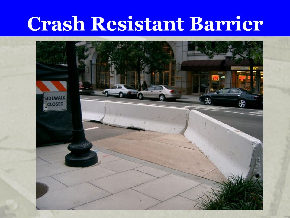 Crash Resistant Barrier