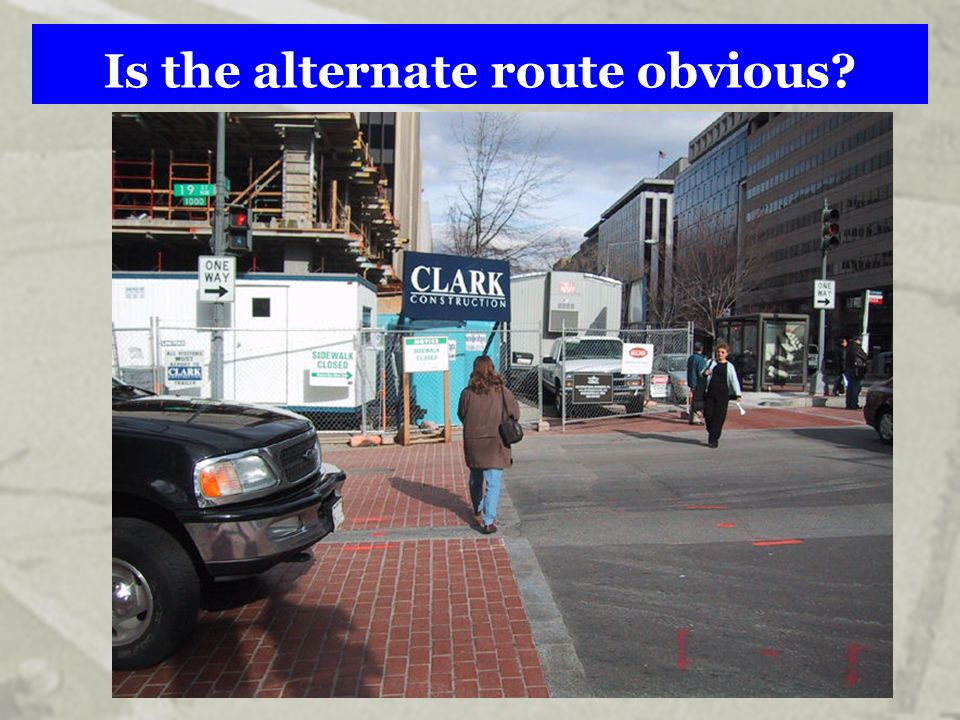 Is the alternate route obvious