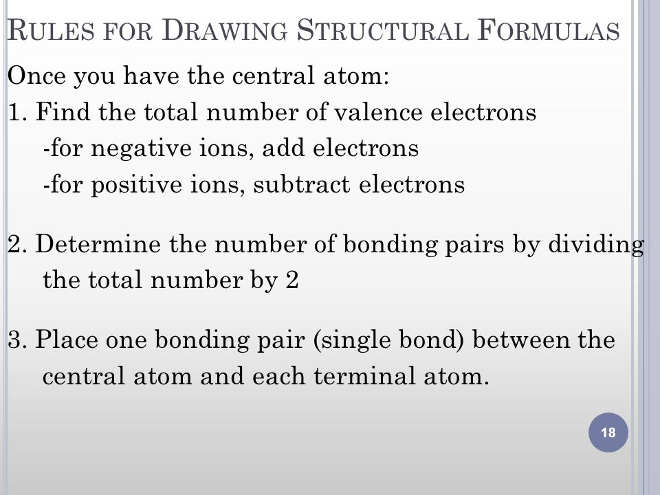 Rules for Drawing Structural Formulas