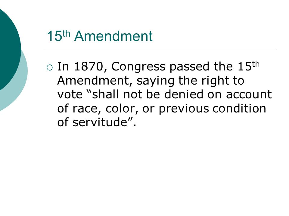 15th Amendment