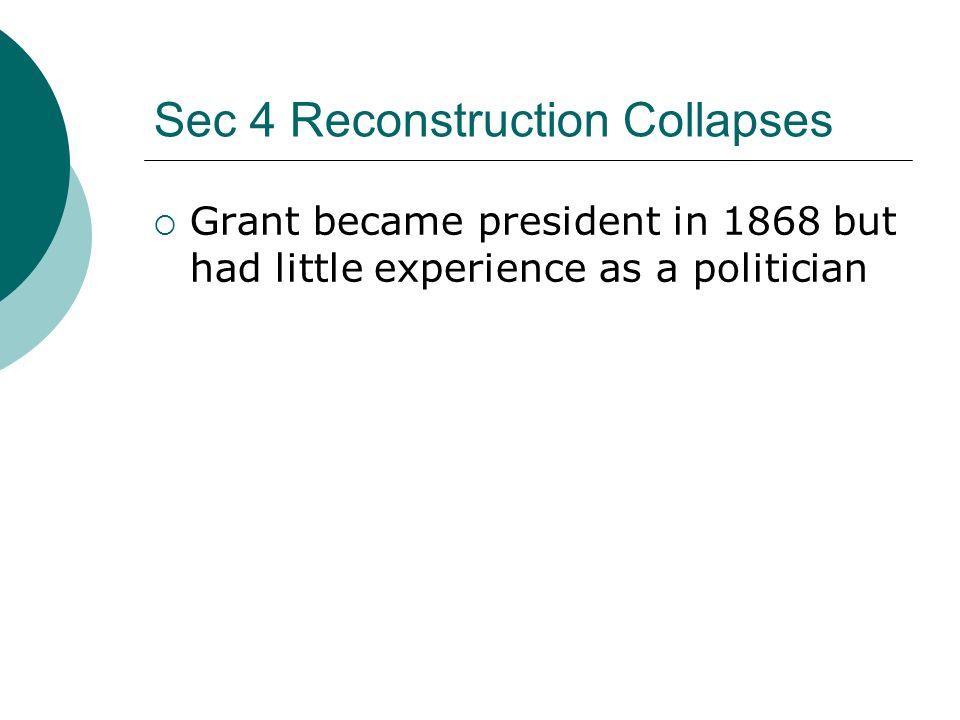 Sec 4 Reconstruction Collapses