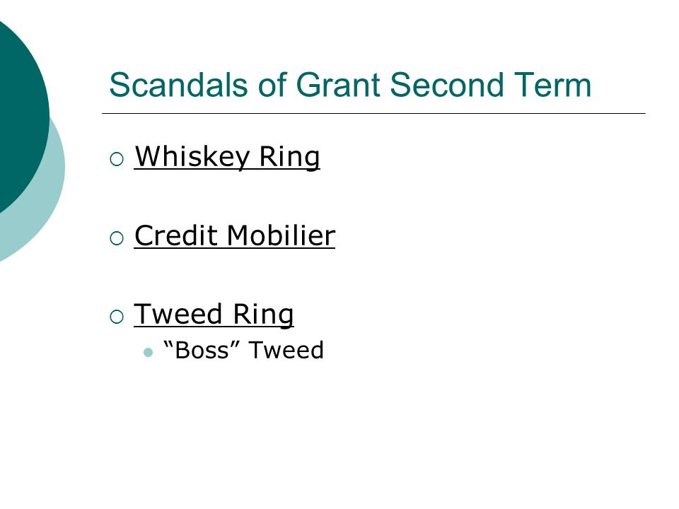 Scandals of Grant Second Term