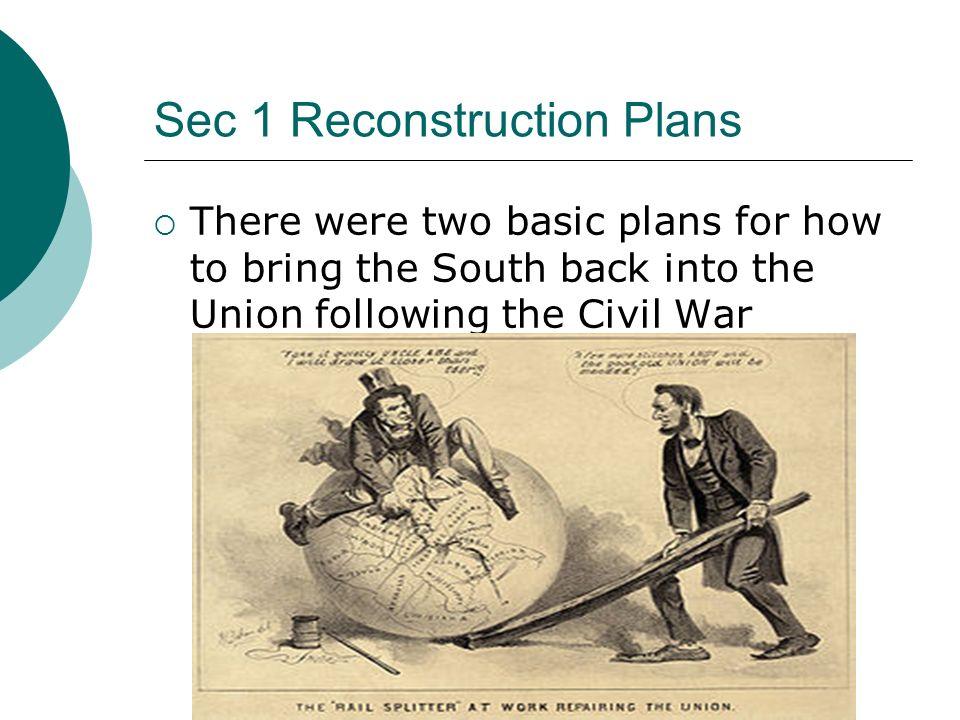Sec 1 Reconstruction Plans