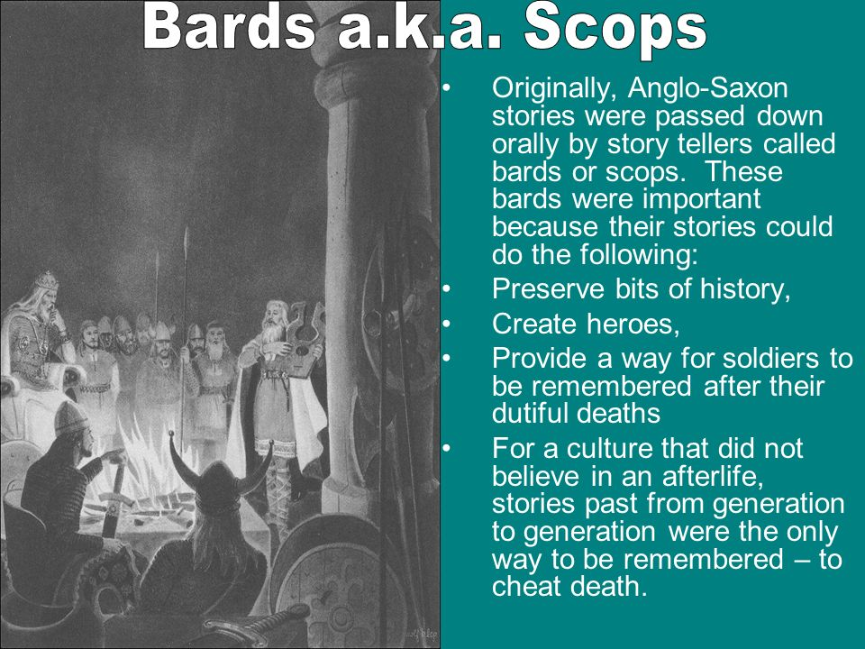 Bards a.k.a. Scops