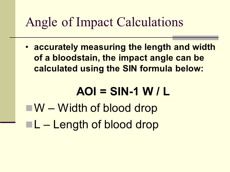 Angle of Impact Calculations
